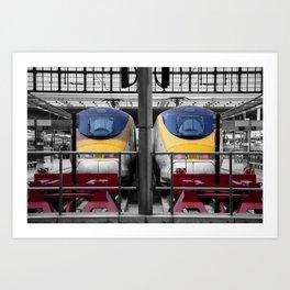 Eurostar waiting  Art Print