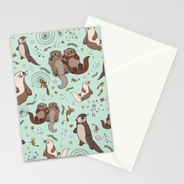 Sea Otters Stationery Cards