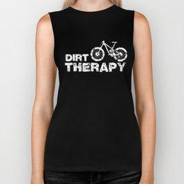 Dirt Therapy Funny MTB Mountain Bike Cycling Biker Tank