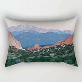 Sunrise at Garden of the Gods and Pikes Peak Rectangular Pillow