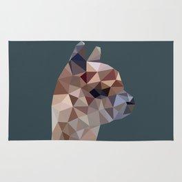 Geometric Alpaca Teddy Rug