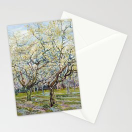 The White Orchard by Vincent van Gogh Stationery Cards