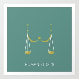 Human Rights Art Print