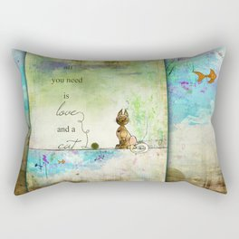 All You Need is Love and  a Cat ~ Ginkelmier Rectangular Pillow