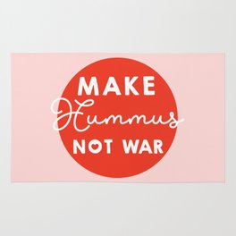 Make hummus not war Rug