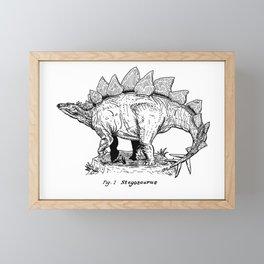 Figure One: Stegosaurus Framed Mini Art Print