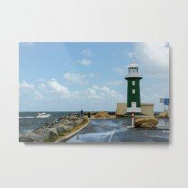 South Mole Lighthouse, Fremantle, Western Australia Metal Print