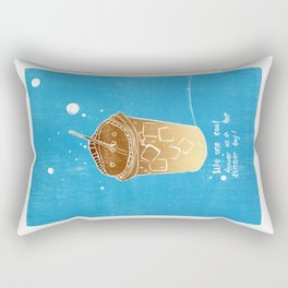 Iced Coffee: Woodblock Prints. Like One Cool Shower on a Hot Summer Day! Rectangular Pillow