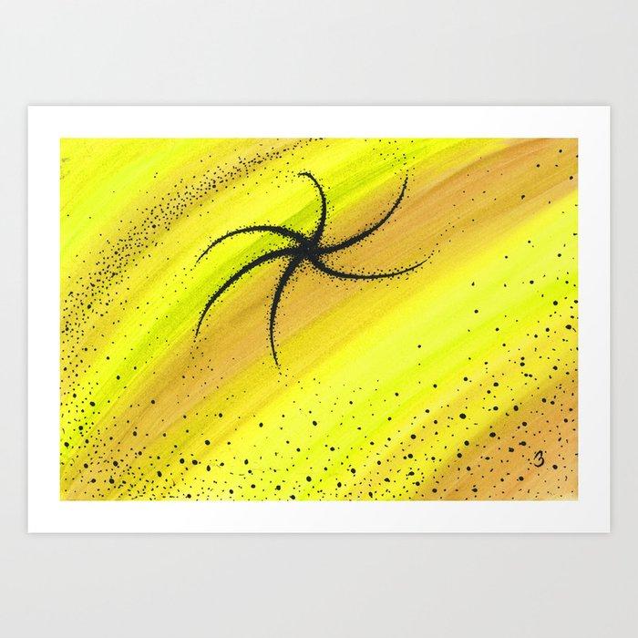 Yellow Dark Matter Art Print