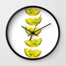 Lemon Slices White Wall Clock
