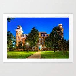 Old Main at Twilight - University of Arkansas Art Print