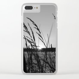 Seagrass Sway Clear iPhone Case