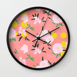 Pompon with dots Wall Clock