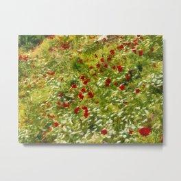 Impressionist Poppies Metal Print