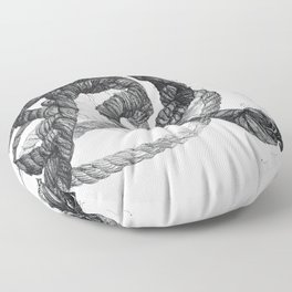 Rope Pen and Ink Drawing Floor Pillow