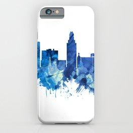 Augusta Georgia Skyline Blue iPhone Case