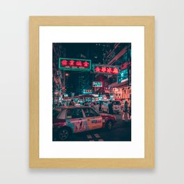 Mong Kok Taxi Framed Art Print