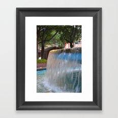 City Fountain Framed Art Print