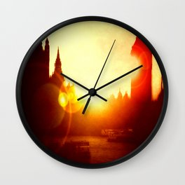 On The Thames  Wall Clock