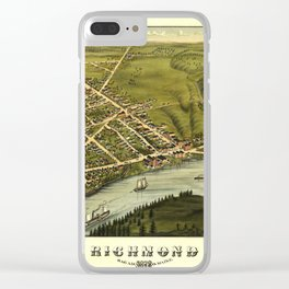 Aerial View of Richmond, Maine (1878) Clear iPhone Case