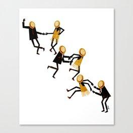 Lindy Hop Dancers Canvas Print