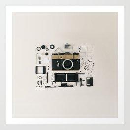 Retro Camera Love Art Print