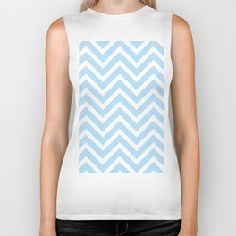 Chevron Stripes : Blue & White Biker Tank