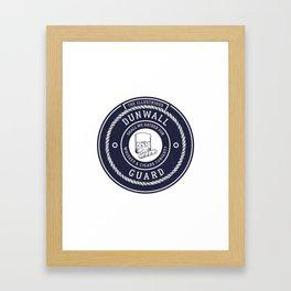Whiskey & Cigars (Navy) Framed Art Print