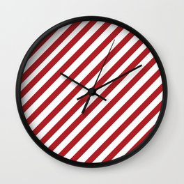 Candy Cane - Christmas Illustration Wall Clock