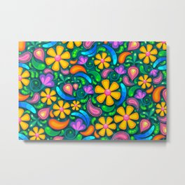 Pretty Floral Pattern Metal Print