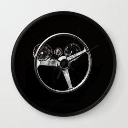 Interior of a classic sports car Wall Clock