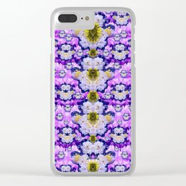 flowers from sky bringing love and life Clear iPhone Case