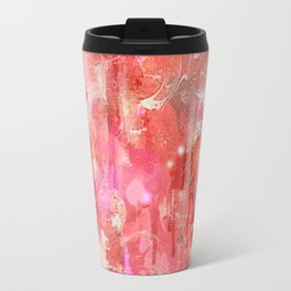 Modern contemporary pastel Blush and Peaches Abstract Travel Mug