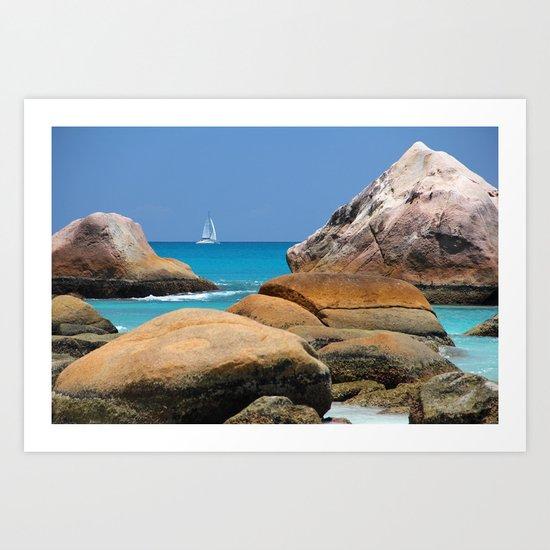 Sea Seychelles Art Print