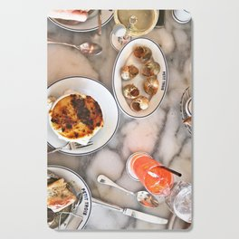 French Lunch for Two Cutting Board