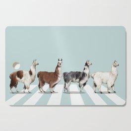 Llama The Abbey Road #1 Cutting Board