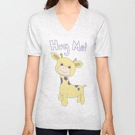 Hug Me! Baby Giraffe Unisex V-Neck