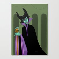 maleficent Canvas Prints featuring Maleficent by DROIDMONKEY