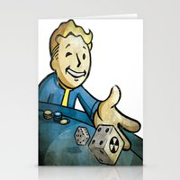 fallout Stationery Cards featuring fallout character by stavastator