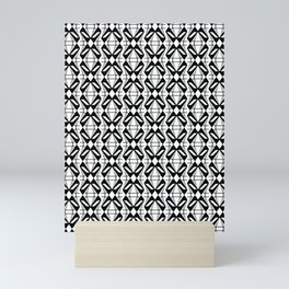 Abstract [BLACK-WHITE] Emeralds pattern Mini Art Print