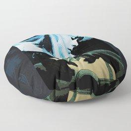 Joni Mitchell Watercolor Floor Pillow