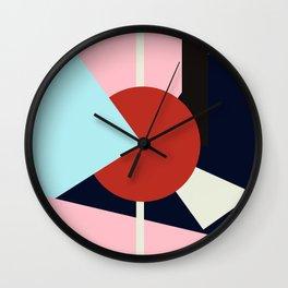 Circle Series - Red Circle No. 4 Wall Clock