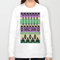 aztec Long Sleeve T-shirts featuring AZTEC by oldi