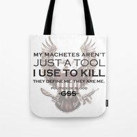 politics Tote Bags featuring Politics of Blood by Gray Spear Society