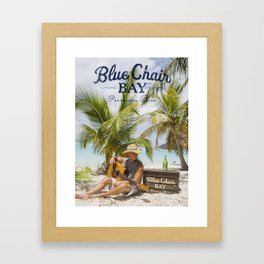 kenny chesney blue chair 2019 simukasama Framed Art Print
