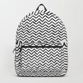 Black & White Hand Drawn ZigZag Pattern Backpack