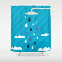 shower Shower Curtains featuring shower  by mark ashkenazi
