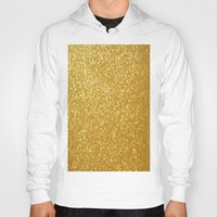 gold glitter Hoodies featuring GOLD GLITTER by I Love Decor