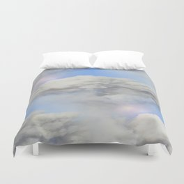 Coming out of the smoke Duvet Cover
