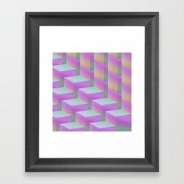 Fade Cubes II Framed Art Print